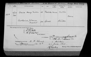 Marriage Record of David Henry Miller and Catharina Johanna Mostert