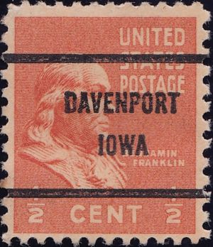 Benjamin Franklin 1 Half Cent US Postage