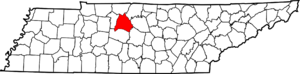 TN Map Showing Davidson County