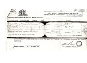 Marriage Certificate for George and Annie