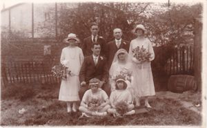 Bert Brown and Florence Hussey's Wedding