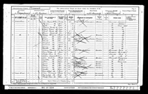 1901 Brown Family census