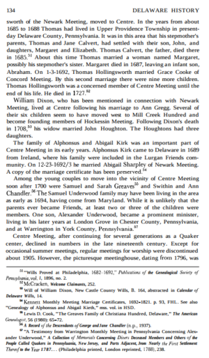 Information on Samuel Underwood and his Quaker son, Alexander