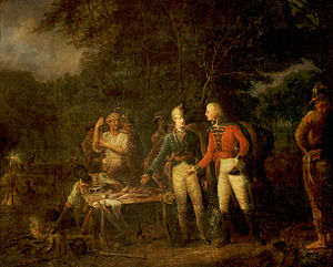 General Marion Inviting a British Officer to Share His Dinner (John Blake White).