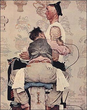 Tattooist by Norman Rockwell