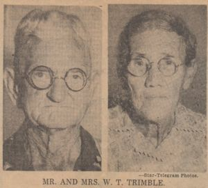 Mr and Mrs W T Trimble