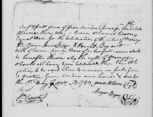 Marriage of James Wilson and Hannah Bryan