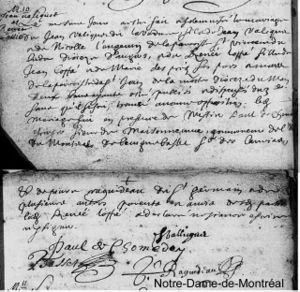 Jean Valiquet and Renée Loppé marriage certificate