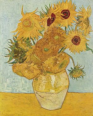 Vase with 12 Sunflowers by Vincent van Gogh