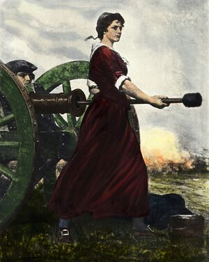 Molly Pitcher by Charles Yardley Turner