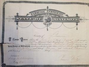 Patrick and Sarah Breen McGowan marriage certificate