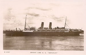 Ship on which the Reeves returned to England in 1921