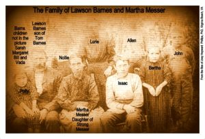 Lawson Barnes/ Martha Messer family