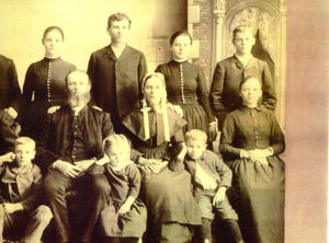 George and Sarah Byerly Family left side of original photo.