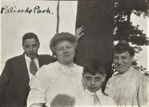 Sarah Davis Schweitzer, her sister, Mary and sons Sam and Joe?.