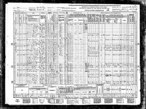 1940 US Federal Census, Sandusky, Erie, Ohio 22-17B - Galen Rote and Family