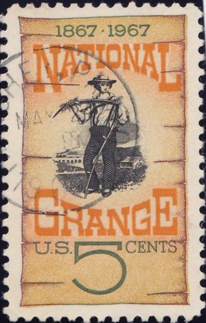 National Grange 5 Cents US Postage