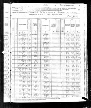 1880 Census Randolph County, West Virginia - George W. Barkley and Family