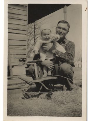 Lindell Johnson with daughter ca 1939