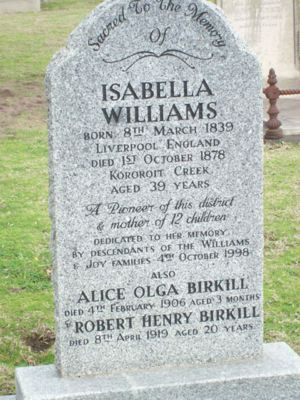 Isabella Williams (1839-1878) | WikiTree FREE Family Tree