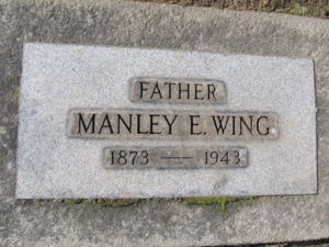 Manley Edson Wing headstone