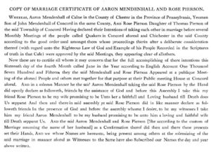 Copy Marriage Cert Aaron and Rose