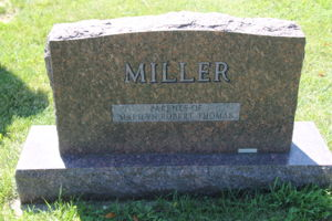 Back of Kenneth and Gretchen Miller's Headstone