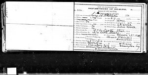 Lucy Norvell Whitteker Death Record