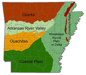 Natural Regions of Arkansas