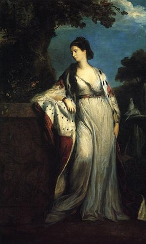 Elizabeth, Duchess of Hamilton and Argyll, by Sir Joshua Reynolds.