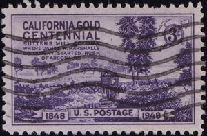 California Gold Centennial 3 Cents US Postage