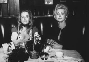 Constance Franceca Gabor Hilton with her mother, Zsa Zsa Gabor