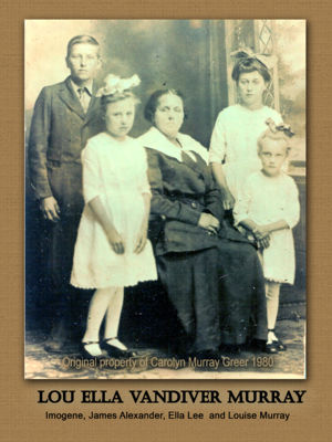 Lou Ella Vandiver Murray and four youngest children