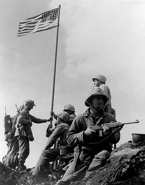 Flag Raising on Iwo Jima by Lou Lowery