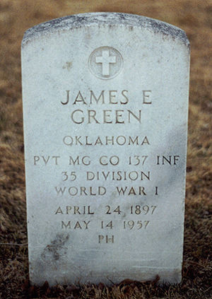 James Edward Green (1897-1957) tombstone