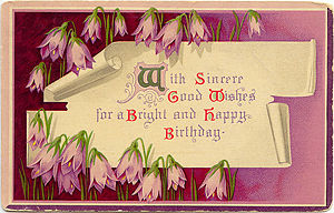virtual vintage birthday ecards, Birthday card