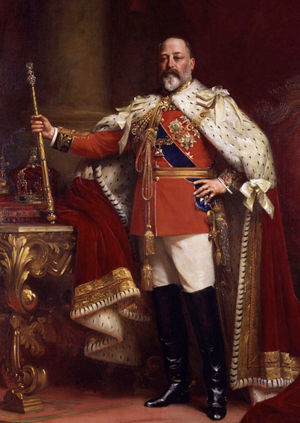 King Edward VII in coronation robes