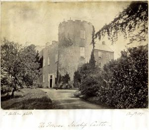 Leixlip Castle.Family photo, Leixlip Castle, where Edward Campbell stuart cole lived with his wife Olivia and daughter Lillian Olivia Cole (Later Pine-Coffin)
