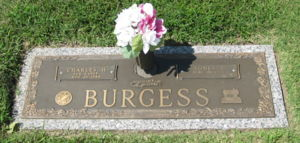 gravestone of Charles and Agnes Burgess