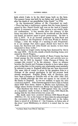 The Family of Zaccheus Gould of Topsfield, pg 34