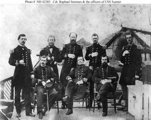 Lt Becket Howell Cdr Semmes and officers of the USS Sumpter