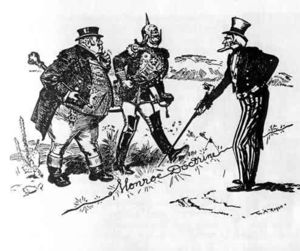 Political Cartoon of the Monroe Doctine of 1823