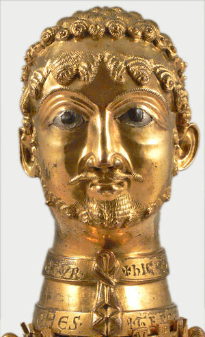 Golden bust of Barbarossa in his likeness