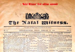 Natal Witness first edition