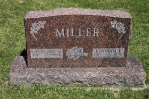 Kenneth and Gretchen Miller Headstone