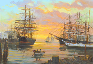 More Clipper Ships at Sunrise