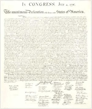 Declaration of Independence & Lee's Signature