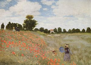 Poppies Blooming by Monet