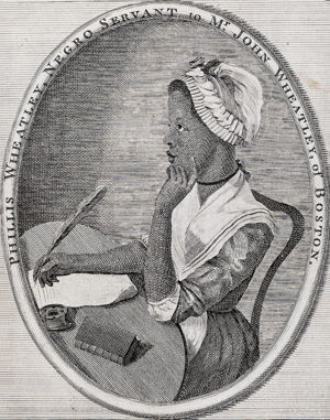 Frontispiece to Phillis Wheatley's ''Poems on Various Subjects...''