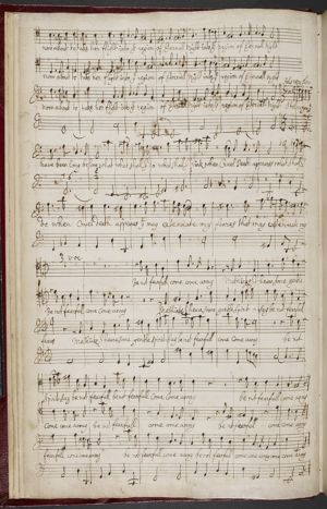 page of Purcell's music